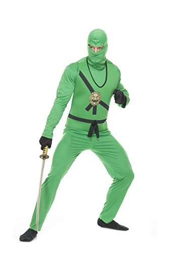(Charades Men's Ninja Avengers Costume Series I, Jade,)