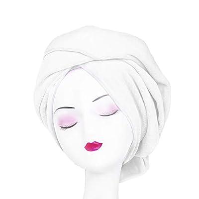 Microfiber Hair Towel WuJi Anti Frizz Hair Wrap Super Absorbent Curly Hair Drying Towel 23.6''x47'' Large Multifunction Towel for Bath Spa Makeup