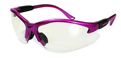 Global Vision Cougar Bifocal Safety Glasses Hot Pink Frame Clear 2.0x Magnification Lens ANSI Z87.1 by Global Vision Eyewear