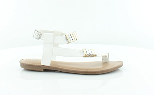 Bar Iii Vrouwen Verna Open Teen Ongedwongen Strappy Sandals Whitye