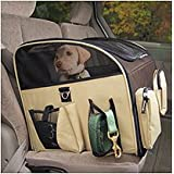 Valentina Valentti Luxury Dog Cat Puppy Pet Car Seat Carrier With Harness L S...