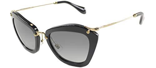 Miu Miu MU10NS 1AB3M1 Sunglasses, Black Frame, Grey Lens ()