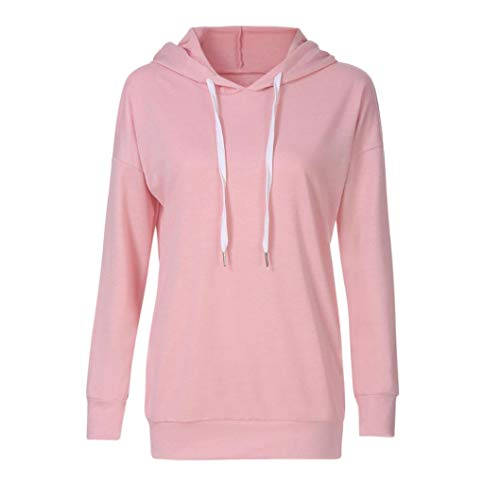 Sweat Chic Long Chemisier Blouse Sweat Shirt Chemise Hooded Capuche Femme Imprim Sweat Tops Chemisier Manches Automne Longues Pink Kangrunmy Hoodies A Capuche qHAnnT4Ft