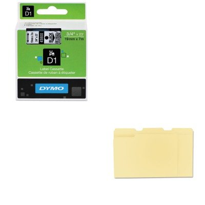 KITDYM45800UNV12113 - Value Kit - Dymo D1 Standard Tape Cartridge for Dymo Label Makers (DYM45800) and Universal File Folders (UNV12113)
