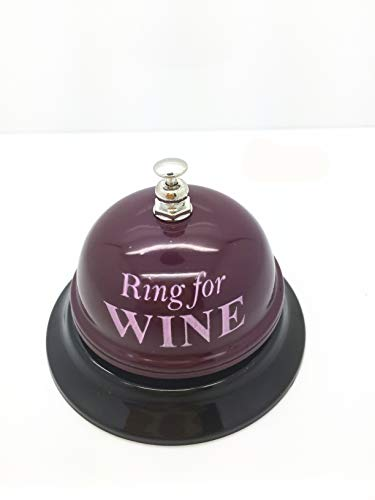 (Desk Kitchen Hotel Counter Reception Restaurant Bar Ring for Service Call Bell (Desk Bell - Ring for Wine))