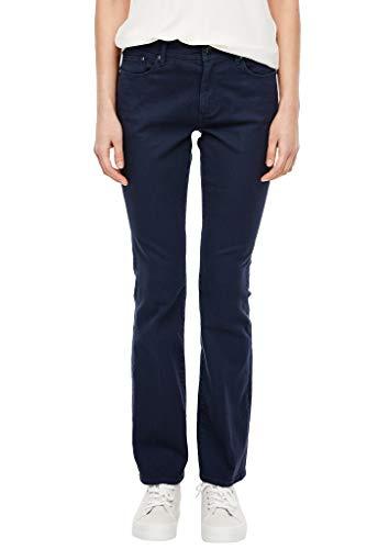 s.Oliver RED Label Damen Slim Fit: Bootcut-Jeans mit Bügelfalte