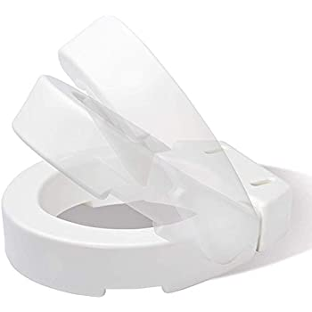 Carex Hinged Toilet Seat Riser, Adds 3.5 Inches of Height to Toilet, 300 Pound Weight Capacity, Hinged for Easy Cleaning
