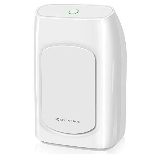 MYCARBON Small Dehumidifier, Dehumidifier, Mini Dehumidifier 700ml (24fl.oz) 1200 Cubic Feet(215 sq ft) Portable Dehumidifier Energy Efficient Ultra Quiet for Bathroom Bedroom Basements Baby Room RV
