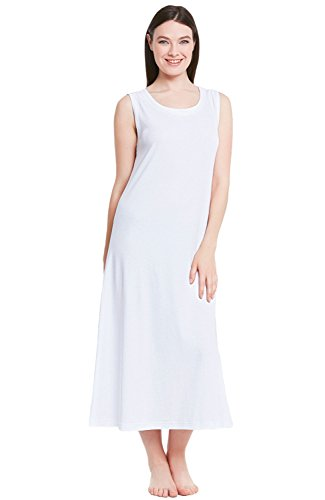 Alexander Del Rossa Womens Sleeveless Cotton Knit Nightgown
