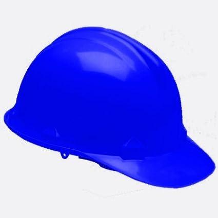 Azul casco de seguridad, azul