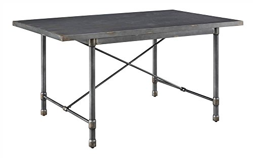 Pulaski Metal Top Dining Table in Gray