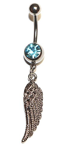 Jewel Fashion surgical steel Angel wing belly ring (Angel Belly Ring)