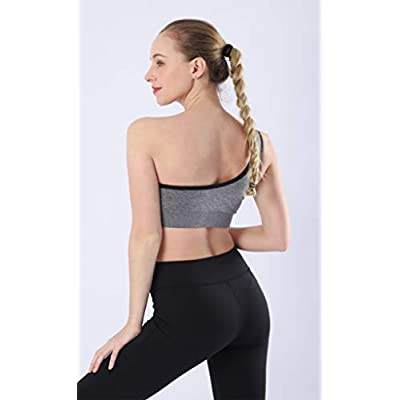 AKAMC 3 Pack Women's Medium Support Cross Back Wirefree Removable Cups Yoga Sport Bra at Women's Clothing store