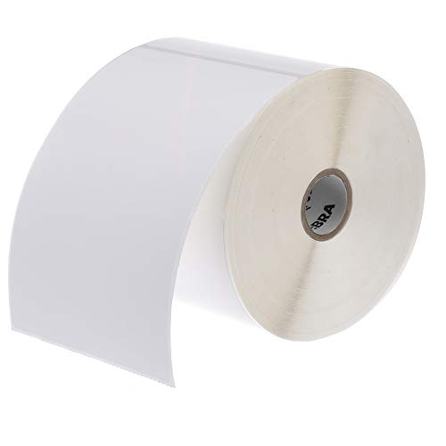 Zebra - 4 x 6 in Thermal Transfer Polypropylene labels, PolyPro 3000T Permanent Adhesive Shipping labels, Zebra Desktop Printer Compatible, 1 in Core - 4 rolls - 10031650SP