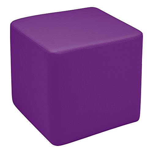 Sprogs  Vinyl Soft Seating Square Stool, 18