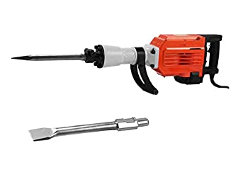 OrangeA Electric Demolition Hammer 3600 Watt Heavy Duty Concrete Jack Hammer with Point Flat Chisels Electric Demolition Jack Hammer Concrete Breaker (3600Watt Hammer)