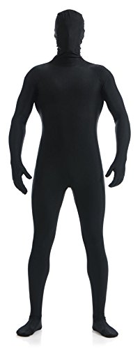 [VSVO Full Body Zentai Skin-Tight Spandex Suit for Adults and Children (Kids Small, Black)] (Adult Black Suit Superman Costumes)