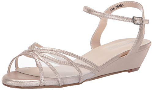 Touch Ups Women's Desi Wedge Sandal, Nude, 9.5 W - Shoes Bridesmaid