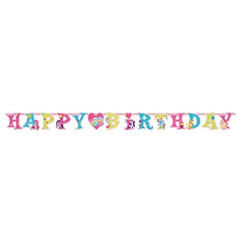 """Cheap Amscan My Little Pony Jumbo Add-An-Age Letter Banner, 1 Piece, Made from Paper, Birthday, 10 1/2 Feet x 10"""""""