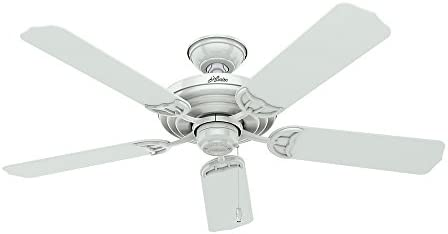 Hunter Sea Air Indoor Outdoor Ceiling Fan with Pull Chain Control, 52 , White
