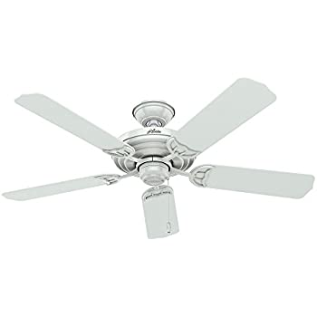 Hunter 53054 Sea Air 52 Inch 5 Blade ETL Damp Rated Ceiling Fan With White Plastic Blades