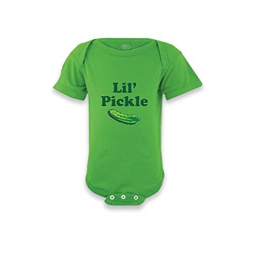 Cute Rascals Lil Pickle Short Sleeve Envelope Neck Boys-Girls Cotton Baby Bodysuit One Piece - Apple Green, Newborn