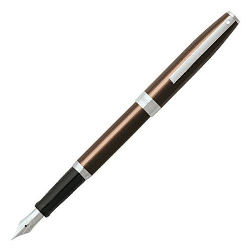 Sheaffer Sagaris, Metallic Brown, Chrome Trim, Fountain Pen: Medium Nib ()