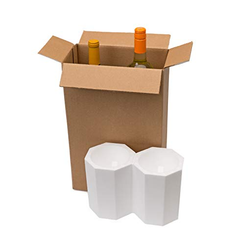 U-Haul Wine Shipping Kit for 2 Bottles - Includes 10-1/4