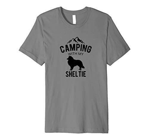 Camping With My Sheltie Dog Lover Shetland Sheepdog Puppy Premium T-Shirt