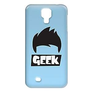 Loud Universe Samsung Galaxy S4 Geek Hairs Print 3D Wrap Around Case - Blue/Black