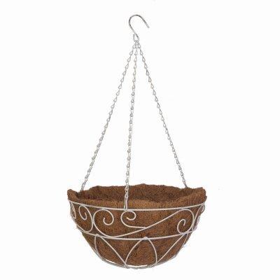 Hang Basket Wht Scroll14