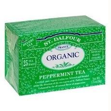 St Dalfour Peppermint Tea - St. Dalfour Organic Tea, Tea Bags, Peppermint (6x25 Bag )