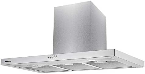 CAMPANA EXTRACCION INFINITON (800m³/hC de extraccion, Campana T Invertida, Luces LED, 3 Niveles de potencia, Filtro de alumio + Filtro de carbón, 63dB) (90 CM): Amazon.es: Grandes electrodomésticos