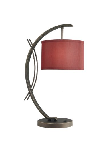 Woodbridge Lighting 13481MEB-S10803 Eclipse 1-Light Table Lamp, 7-1/2-Inch by 21-3/4-Inch, Metallic Bronze (Collection Eclipse Light 1)