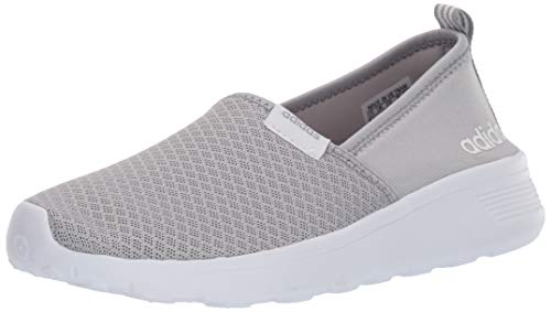 adidas Womens lite Racer Slip on w Fashion Sneaker, Clear Light Onyx/White, 6.5 M US