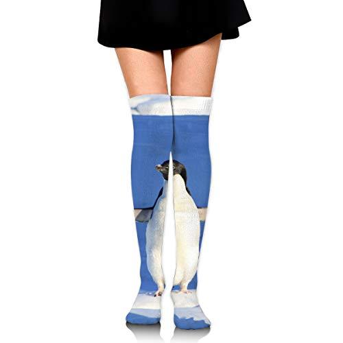 (Funny Iceberg Penguin Blue Water Cotton Compression Socks for Women. Graduated Stockings for Nurses, Maternity, Travel, Flight,Varicose Veins,Running & Fitness, Calf Support.)