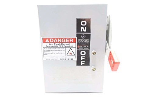 GE THN3361J HEAVY DUTY SAFETY 30AMP 600VAC NON-FUSIBLE DISCONNECT SWITCH D580153
