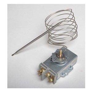 Dayton 6EDY9 Line Voltage Thermostat, Remote Bulb, DPST