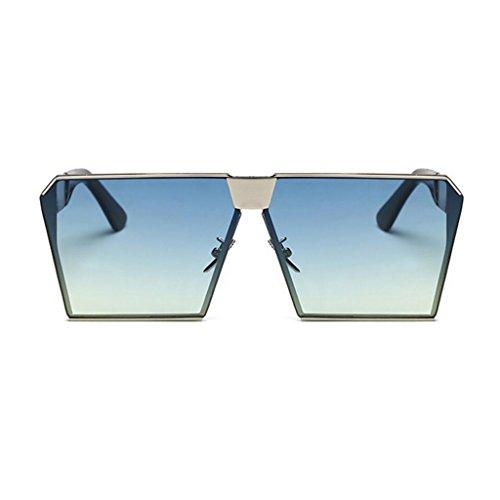 luxe hommes GAOLIXIA lunettes carrées L de aviateur de soleil lunettes lunettes voyage cadre miroir classique métal ton mode soleil de femmes wP5Fqrwp
