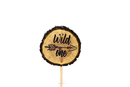 Wild One Rustic Engraved Cake Topper by OzarkCraftWood