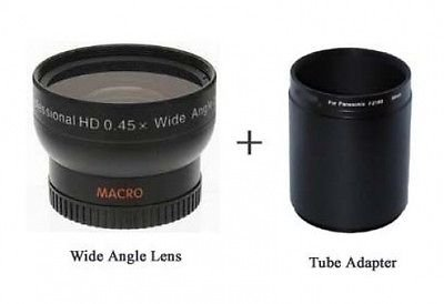 Wide Lens for Panasonic DMC-FZ100, Panasonic DMCFZ100, Panasonic DMW-LA5 by Photo High Quality