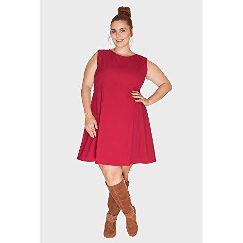 Vestido Princesa Plus Size Vinho-50