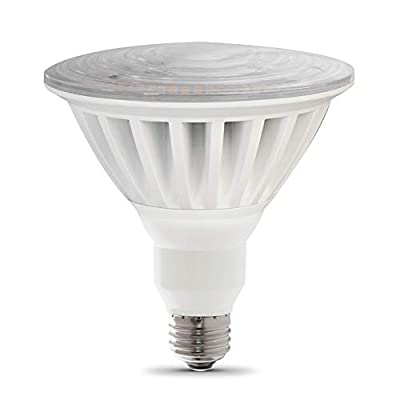 "Feit Electric PAR38/5000/5K/LED Non Dimmable High Lumen PAR38 LED Light Bulb, 5""H x 4.75""D, Daylight 5000K"