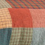 Donna Sharp Campfire Square Quilted Cotton Throw or Wallhanging