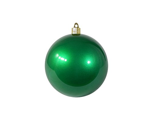 Christmas By Krebs CBK80631 Shatterproof Christmas Ball Ornament, 4-Inch, Candy Green - Green Christmas Holiday Ornaments
