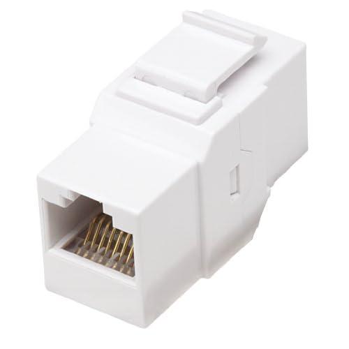 White RJ45 Female to Female UTP CAT.6 Keystone Coupler