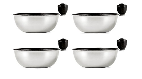 Eggssentials Replacement Spare Stainless Steel Anti-Stick PFOA Free Individual Removable Poaching Cups (4) by Eggssentials