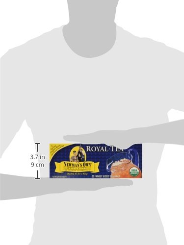 Newman's OwnOrganics Royal Tea, Organic Blend for Iced Tea, 22 Family Sized Tea Bags, 4.95-Ounce Boxes (Pack of 12) by Newman's Own (Image #3)