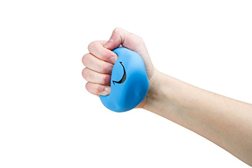 Silly Ball (Hand Strengthening Therapeutic Bright Colored Smile Funny Face Stress Ball With Hair - Silly Goofy Face Stress Balls Relaxable 3