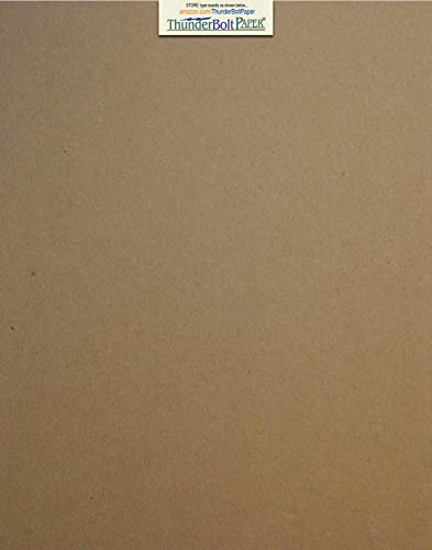 Caliper Sleeve - 50 Sheets Chipboard 24pt (point) 11 X 14 Inches Light Weight Scrapbook|Picture-Frame Size .024 Caliper Thickness Cardboard Craft Packaging Brown Kraft Paper Board
